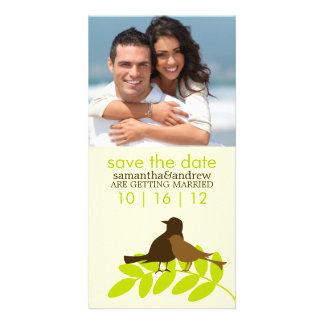 Anúncios feitos sob encomenda do casamento da foto cartão com foto