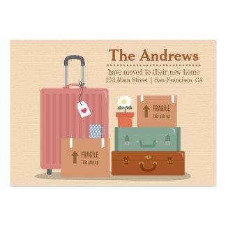 Anúncios Home novos retros das caixas e das malas Cartão De Visita Grande