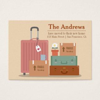 Anúncios Home novos retros das caixas e das malas Cartão De Visitas