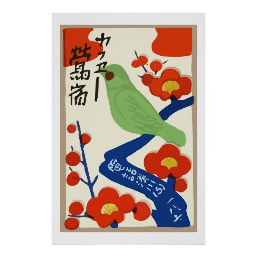 Anúncios japoneses da caixa de fósforos do vintage posters