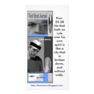 Anúncios ocidentais do jornal da rua cartoes com foto personalizados