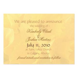 anúncios pequenos do casamento dos daffodils 1 cartão de visita grande