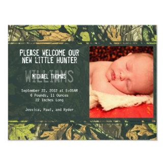 Anúncios pequenos do nascimento do caçador | convite 10.79 x 13.97cm