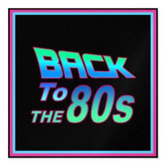 Ao anos 80 1 convite personalizado
