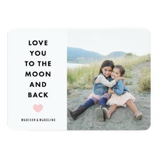 Ao cartão com fotos do dia dos namorados da lua |