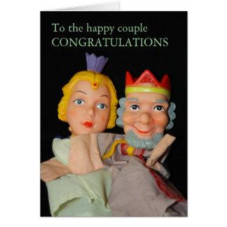 Ao cartão feliz do coupleCONGRATULATIONS…