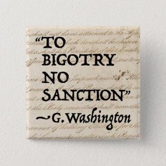 Ao dogmatismo nenhuma sanção bóton quadrado 5.08cm