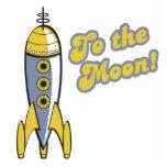 ao foguete de espaço retro da lua fotoesculturas