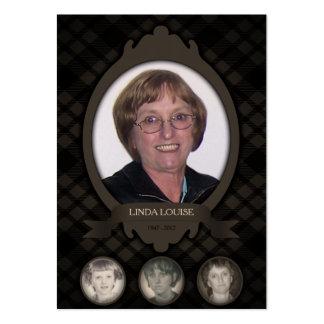 ao longo dos anos anúncios do memorial da foto cartão de visita grande