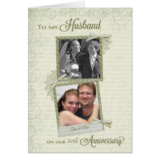 Ao marido no aniversário do __th - costume então & cartão comemorativo