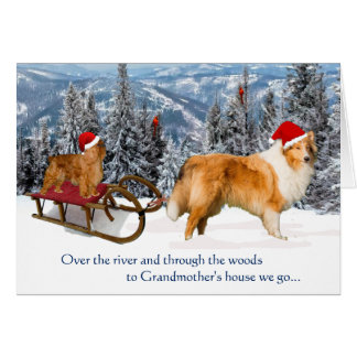 Ao Natal da casa da avó Cartão Comemorativo