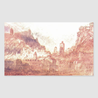 Ao sul de Bellinzona por William Turner Adesivo Retangular