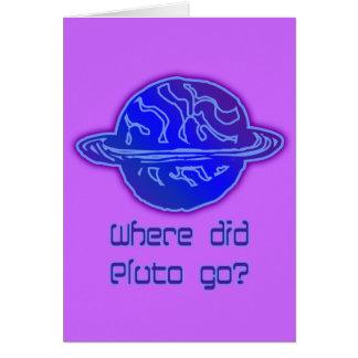 Aonde Pluto foi? Cartão