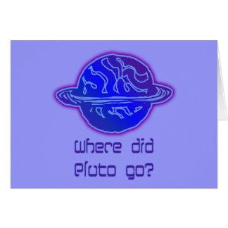Aonde Pluto foi? Cartão Comemorativo