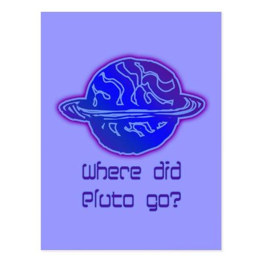 Aonde Pluto foi? Cartoes Postais