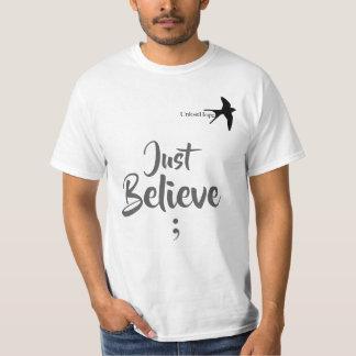 Apenas acredite a esperança superior unisex de camiseta