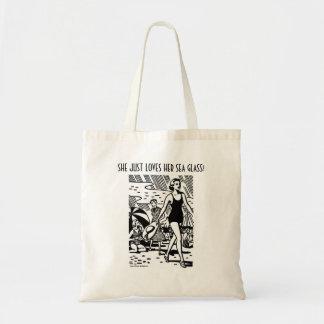 Apenas ama seu bolsa do vidro do mar