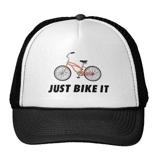Apenas bike o! Bicicleta alaranjada, t-shirt inspi Bone