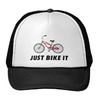 Apenas bike o! T-shirt inspirador da bicicleta ver Boné