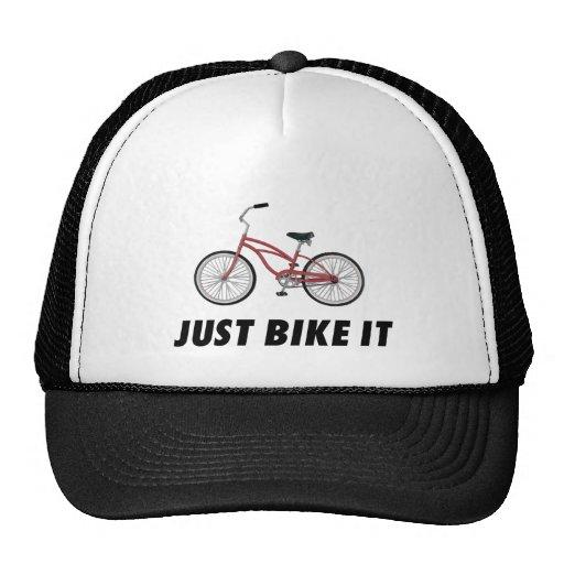 Apenas bike o! T-shirt inspirador da bicicleta ver Bonés
