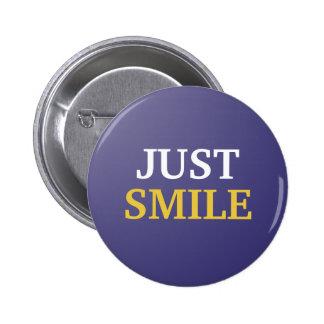 Apenas botão do sorriso bóton redondo 5.08cm