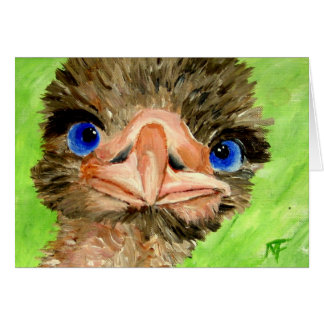 Apenas cartão da avestruz do checkin
