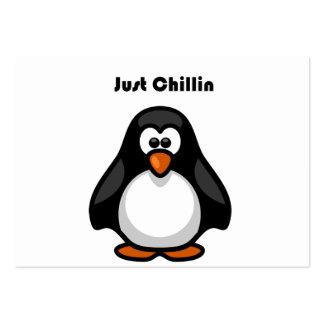 Apenas desenhos animados do pinguim de Chillin Cartão De Visita Grande