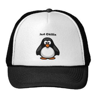 Apenas desenhos animados do pinguim de Chillin Bonés
