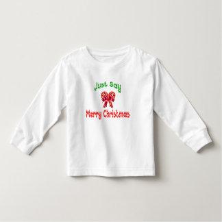 Apenas diga a camisa dos miúdos do Feliz Natal