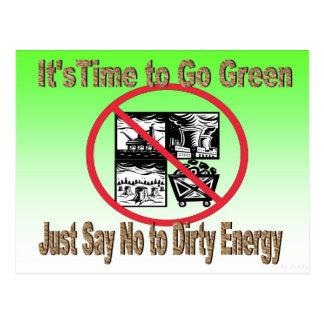 Apenas diga não ao cartão sujo da energia