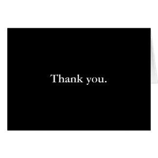 Apenas diga-o.  Cartões de agradecimentos