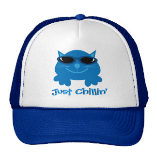 Apenas gato azul de Chillin com óculos de sol Boné