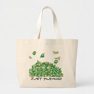 """""""Apenas jogando"""" a sacola das canvas Bolsas Para Compras"""