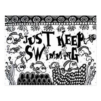 Apenas mantenha nadar cartão - Spoonie