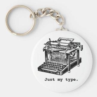 Apenas meu tipo, máquina de escrever chaveiro
