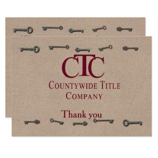 Apenas obrigado das chaves 5x7 CtC você Convite 12.7 X 17.78cm