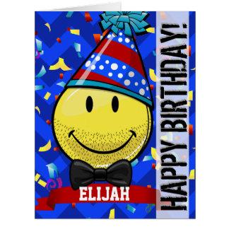 Apenas para ele! Cartão de aniversário grande