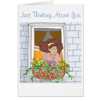 Apenas pensando sobre você. Cartão