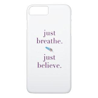 Apenas respire a capa de telefone tribal da ioga