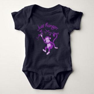 Apenas roupa animal do bebê do macaco funky do body para bebê