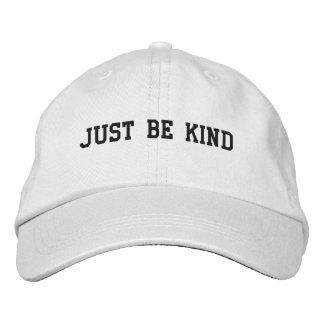 Apenas seja chapéu ajustável do tipo boné bordado