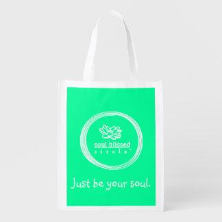Apenas seja sua alma. Saco de Reusuable Sacolas Ecológicas Para Supermercado
