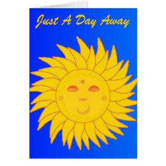 Apenas um cartão ausente do dia