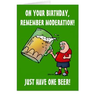 Apenas um cartão de aniversário engraçado da