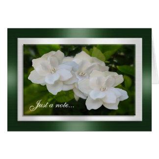 Apenas um Gardenia do cartão de nota floresce a