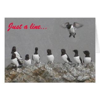 """""""Apenas uma linha"""" pássaros anula o cartão de nota"""