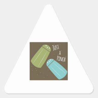 Apenas uma pitada adesivos em forma de triângulo