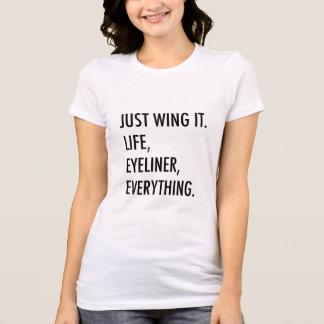 Apenas voe-o t-shirt feminino camiseta