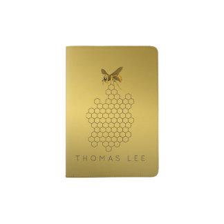 Apicultor do vendedor do mel da abelha do mel do capa para passaporte