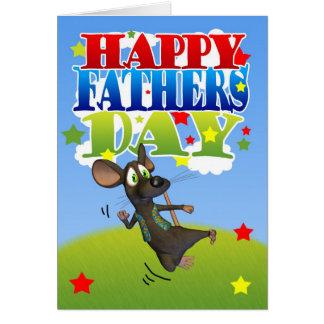 Aplausos bonitos do rato do cartão do dia dos pais